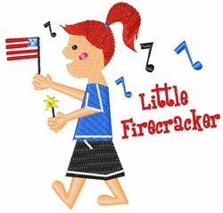 Little Firecracker embroidery design