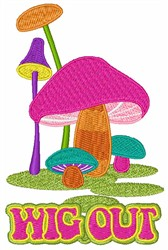 Wig Out embroidery design