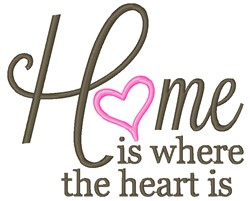 Home Is Where The Heart Is embroidery design