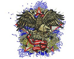 American Eagle Fashion embroidery design