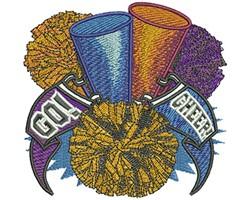 POM POM CHEER embroidery design