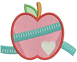 Measurement Apple embroidery design