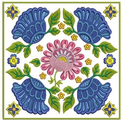 Floral Block embroidery design