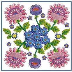 Flower Blocks embroidery design