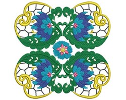 Jacobean Flower embroidery design