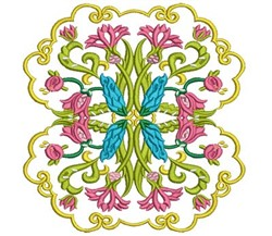 Jacobean Blossoms embroidery design