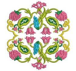 Jacobean Florals embroidery design
