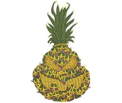 Jack-O-Lantern Pineapple embroidery design