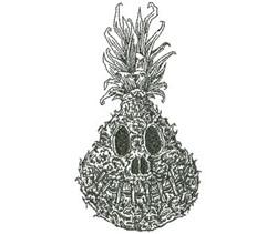 Shrunken Pineapple Outline embroidery design