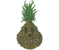 Shrunken Pineapple Realistic embroidery design