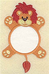 Lion In Circle Applique embroidery design