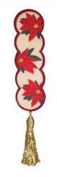 Bookmark 202 Poinsettas embroidery design