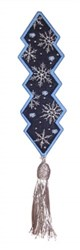Bookmark 211 Snowflakes embroidery design