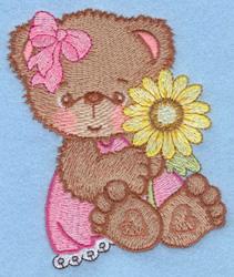 Teddy Bear & Flower embroidery design