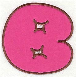 B Applique Font embroidery design