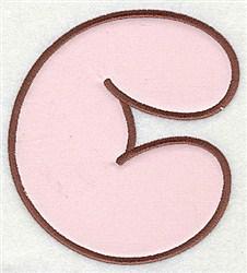 C Applique Font embroidery design