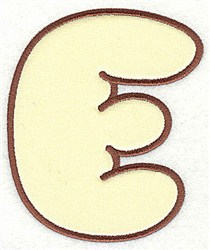 E Applique Font embroidery design