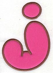 J Applique Font embroidery design