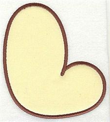 L Applique Font embroidery design