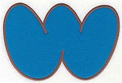 W Applique Font embroidery design