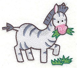 Zebra embroidery design