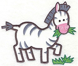 Zebra Applique embroidery design