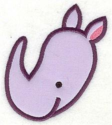 Rhinoceros Head Applique embroidery design