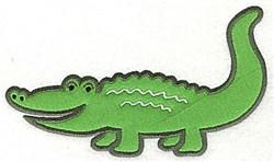 Crocodile Applique embroidery design