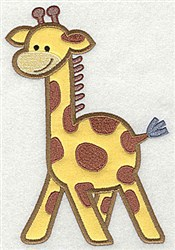 Giraffe Applique embroidery design