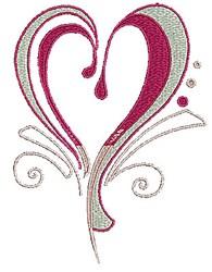 Swirly Heart embroidery design