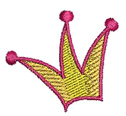 Crown embroidery design