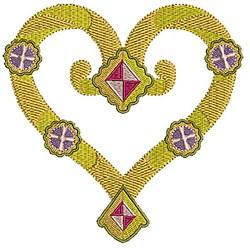 Heart & Diamonds embroidery design