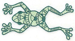 Stretched Frog embroidery design