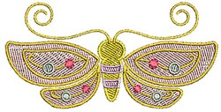 Butterfly Bug embroidery design
