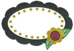 Frame Flower embroidery design