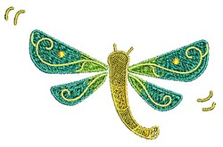 Dragonfly Bug embroidery design