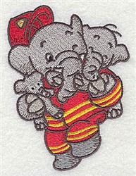 Rescue Elephant embroidery design