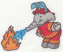 Elephant & Fire embroidery design