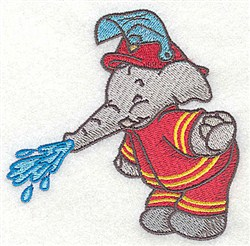 Elephant Watering embroidery design