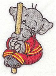 Elephant On Pole embroidery design