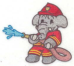 Elephant With Hose embroidery design