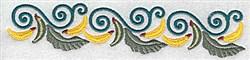 Banana border embroidery design