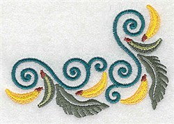 Banana corner embroidery design