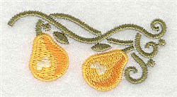 Pears embroidery design