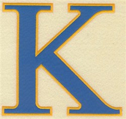 Kappa Large Applique embroidery design