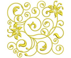 Golden Flowers embroidery design