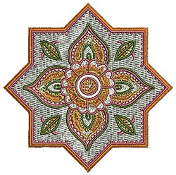 Henna Star Flower embroidery design