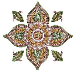 Henna Flower embroidery design