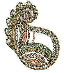 Henna Paisley embroidery design