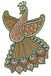 Bird Henna embroidery design